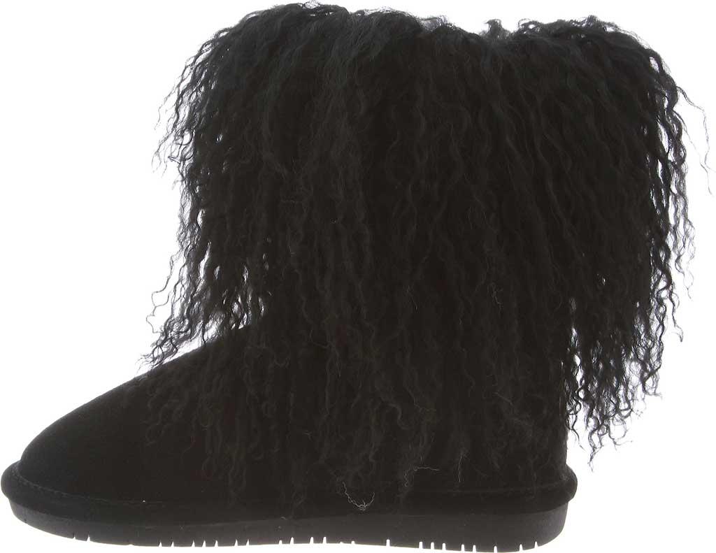 Girls' Bearpaw Boo Ankle Boot, Black II Cow Suede/Lambskin, large, image 3