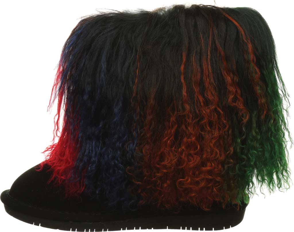 Girls' Bearpaw Boo Ankle Boot, Rasta Suede/Curly Lamb, large, image 3