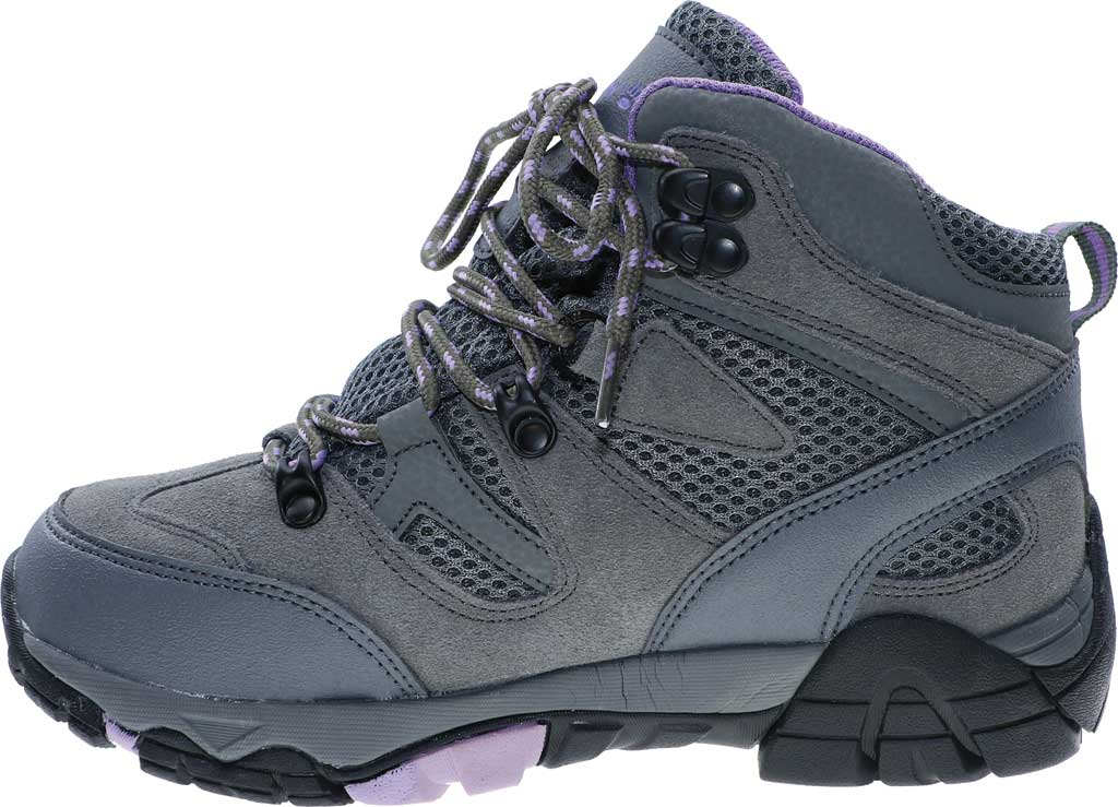 Women's Bearpaw Corsica Solids Waterproof Hiking Boot, Gray Fog Suede/Nylon Mesh, large, image 3