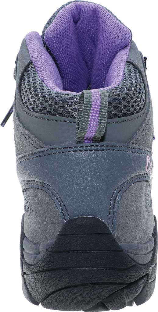 Women's Bearpaw Corsica Solids Waterproof Hiking Boot, Gray Fog Suede/Nylon Mesh, large, image 4
