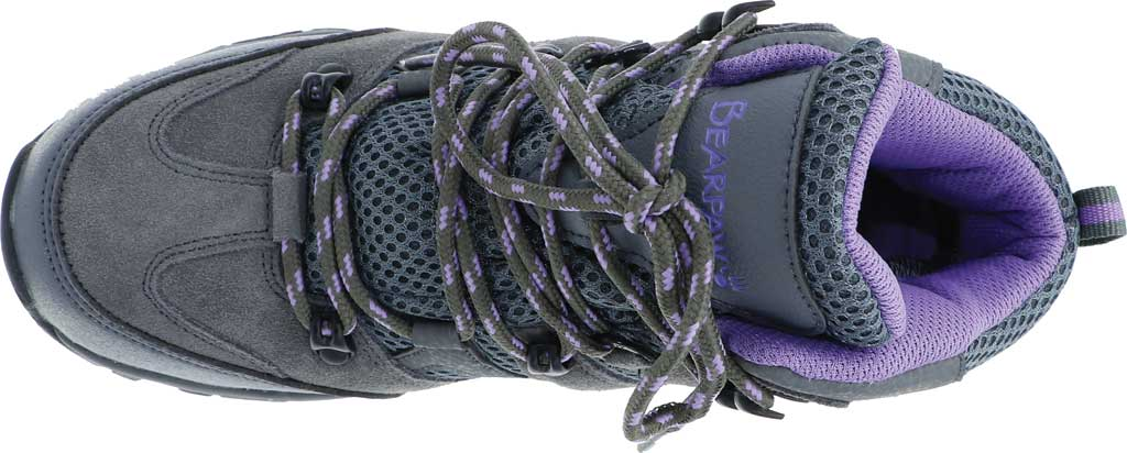 Women's Bearpaw Corsica Solids Waterproof Hiking Boot, Gray Fog Suede/Nylon Mesh, large, image 5