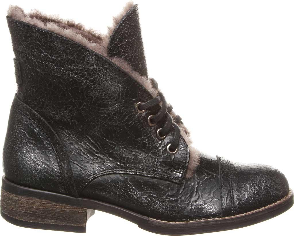Women's Luxe de Leon Carmen Bootie, Pewter Metallic Waxed Leather, large, image 2