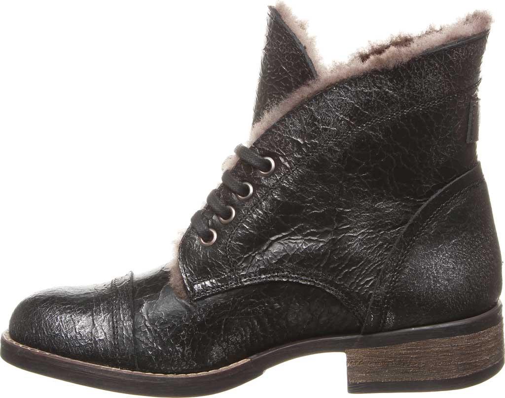 Women's Luxe de Leon Carmen Bootie, Pewter Metallic Waxed Leather, large, image 3