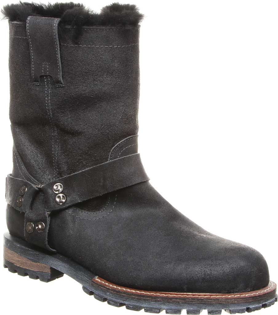 Men's Luxe de Leon Santo Harness Boot, Smoke Oiled Suede, large, image 1