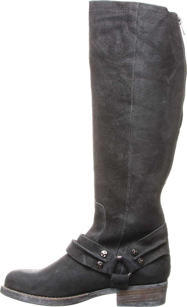 Women's Luxe de Leon Templo Tall Harness Boot, Smoke Distressed Leather/Genuine Shearling, large, image 3