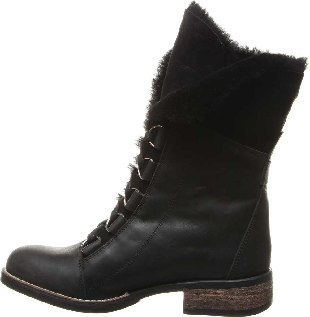 Women's Luxe de Leon Aura Lace-Up Boot, Ebony Antiqued Leather, large, image 3