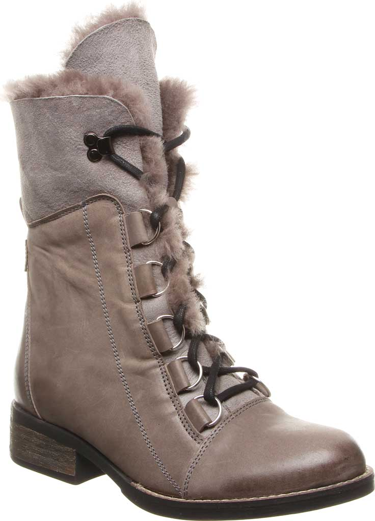 Women's Luxe de Leon Aura Lace-Up Boot, Smoke Antiqued Leather, large, image 1