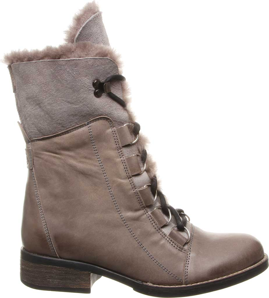 Women's Luxe de Leon Aura Lace-Up Boot, Smoke Antiqued Leather, large, image 2