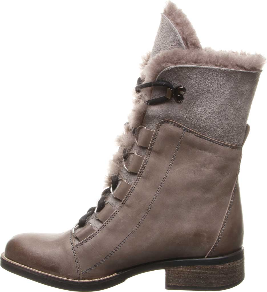 Women's Luxe de Leon Aura Lace-Up Boot, Smoke Antiqued Leather, large, image 3