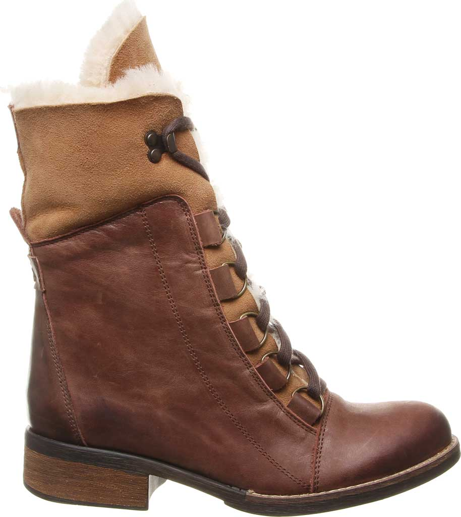Women's Luxe de Leon Aura Lace-Up Boot, Tobacco Antiqued Leather, large, image 2