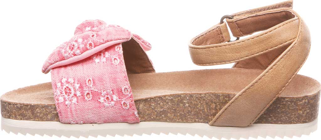 Girls' Bearpaw Genesis Ankle Strap Sandal, Blush Faux Leather/Canvas, large, image 3