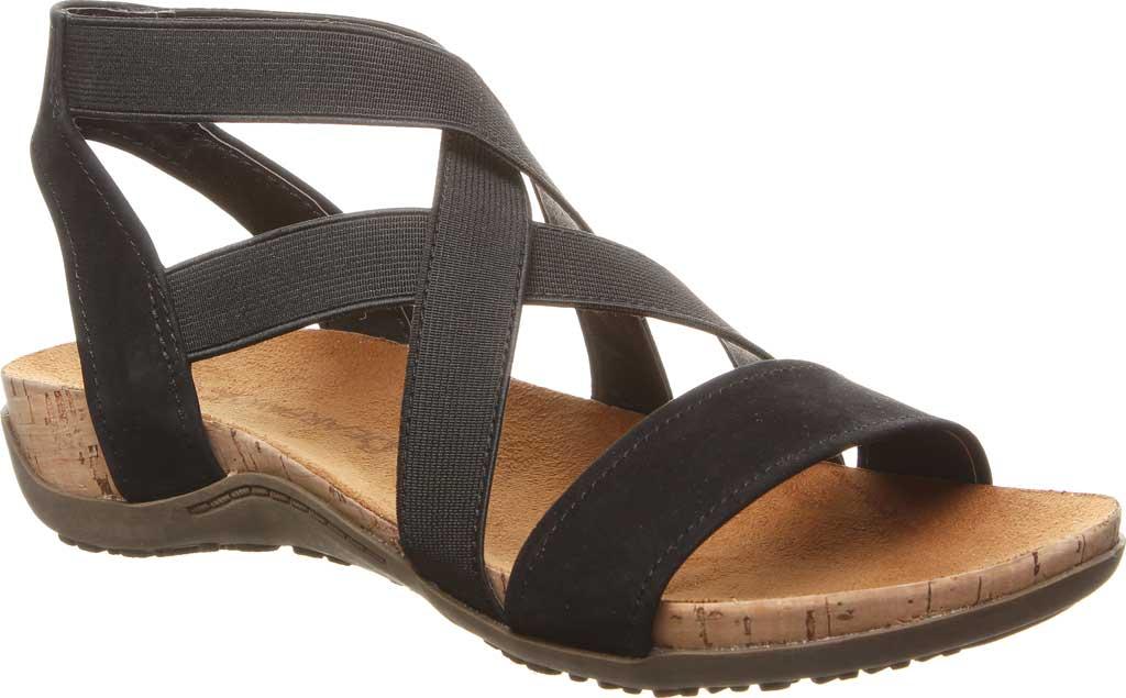 Women's Bearpaw Brea Strappy Sandal, Black II Faux Leather, large, image 1