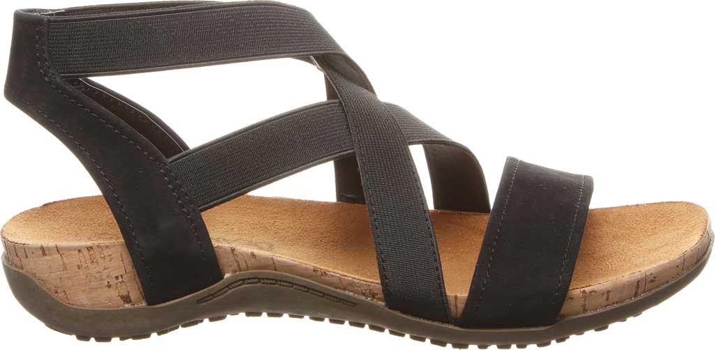 Women's Bearpaw Brea Strappy Sandal, Black II Faux Leather, large, image 2