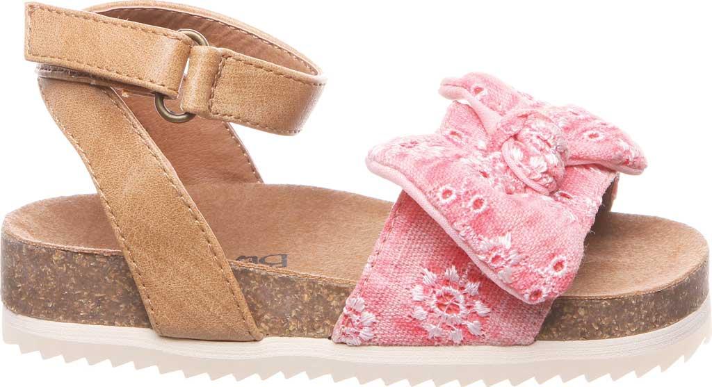 Infant Girls' Bearpaw Genesis Ankle Strap Sandal, Blush Faux Leather/Canvas, large, image 2