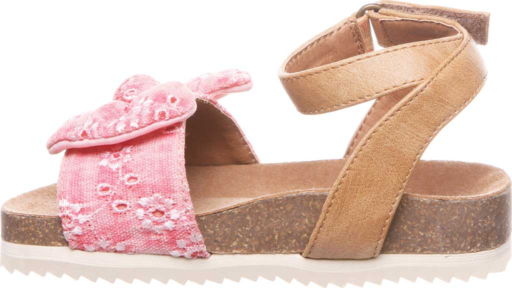 Infant Girls' Bearpaw Genesis Ankle Strap Sandal, Blush Faux Leather/Canvas, large, image 3