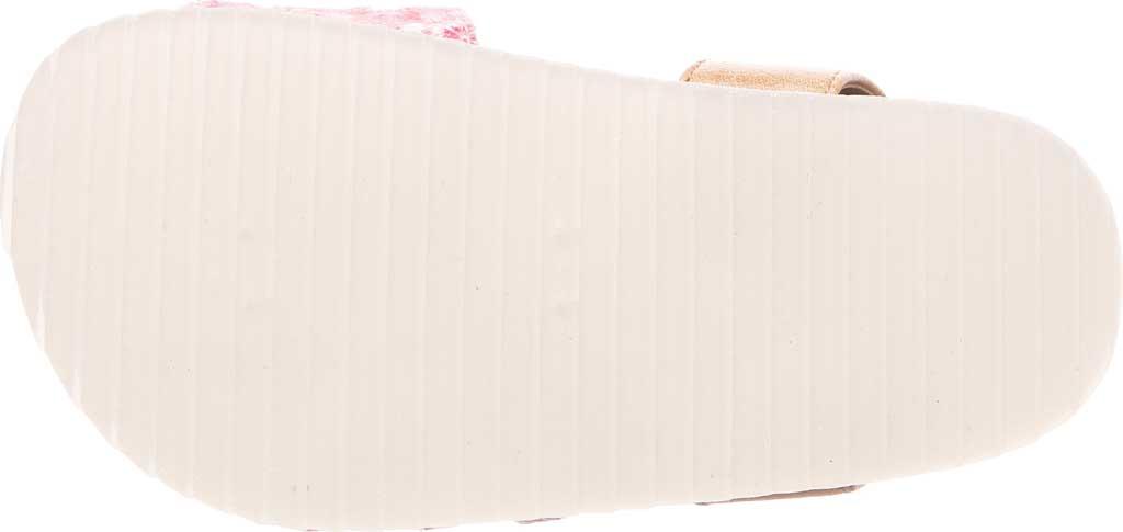 Infant Girls' Bearpaw Genesis Ankle Strap Sandal, Blush Faux Leather/Canvas, large, image 4