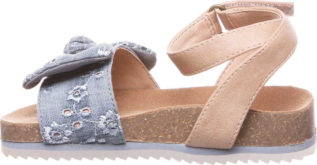 Infant Girls' Bearpaw Genesis Ankle Strap Sandal, Chambray Faux Leather/Canvas, large, image 3