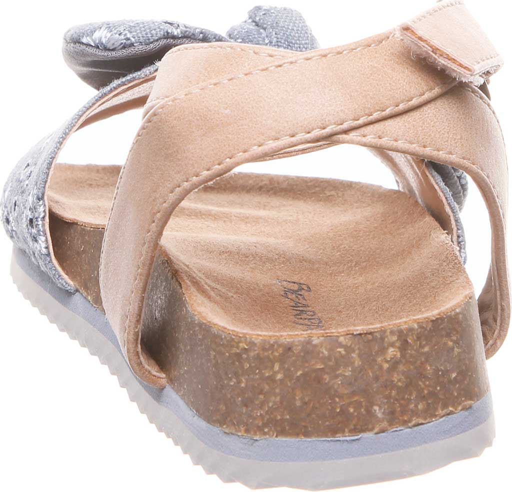 Infant Girls' Bearpaw Genesis Ankle Strap Sandal, Chambray Faux Leather/Canvas, large, image 4