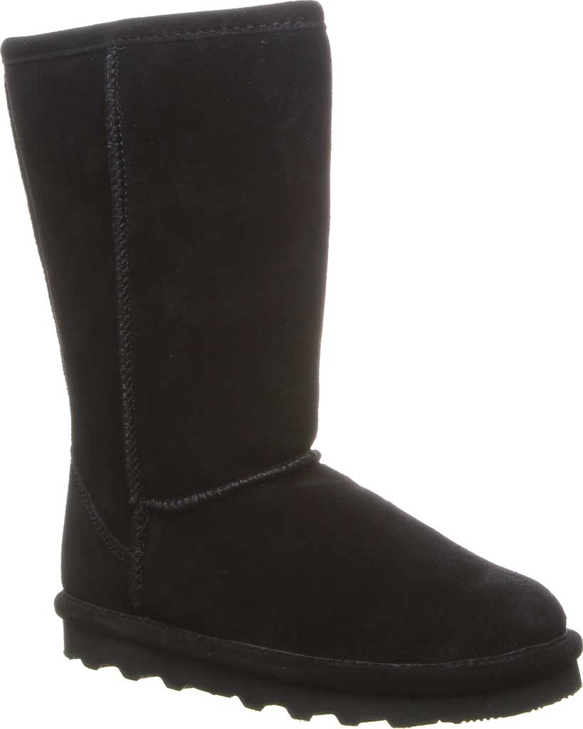 Girls' Bearpaw Elle Tall Youth Boot, Black II Suede, large, image 1