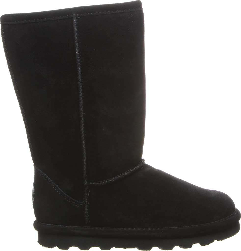 Girls' Bearpaw Elle Tall Youth Boot, Black II Suede, large, image 2