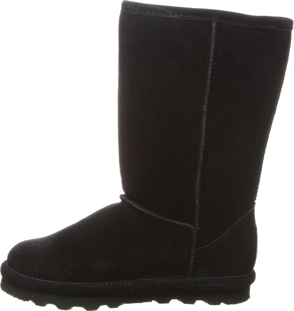 Girls' Bearpaw Elle Tall Youth Boot, Black II Suede, large, image 3