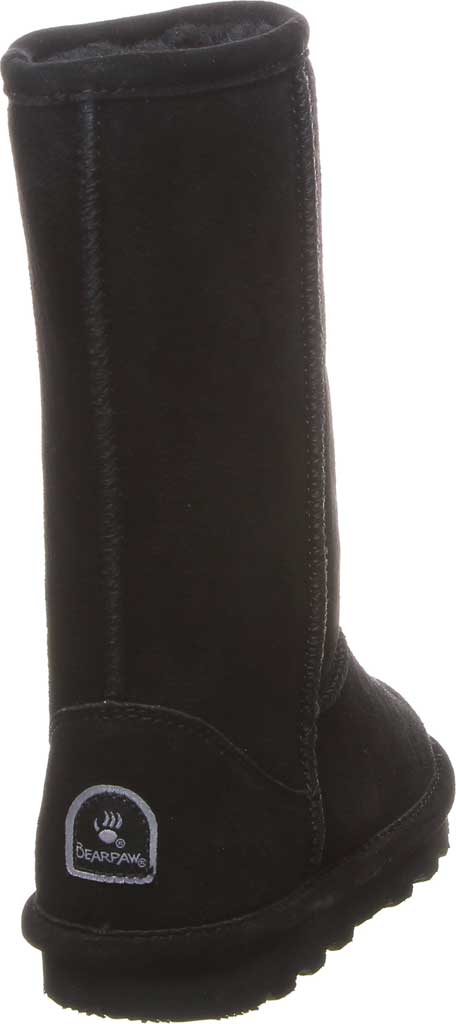 Girls' Bearpaw Elle Tall Youth Boot, Black II Suede, large, image 4