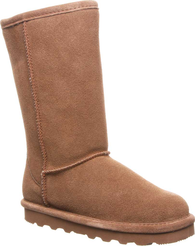 Girls' Bearpaw Elle Tall Youth Boot, Hickory II Suede, large, image 1