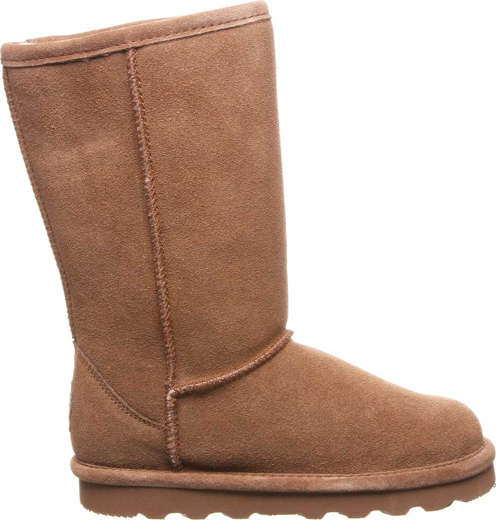 Girls' Bearpaw Elle Tall Youth Boot, Hickory II Suede, large, image 2