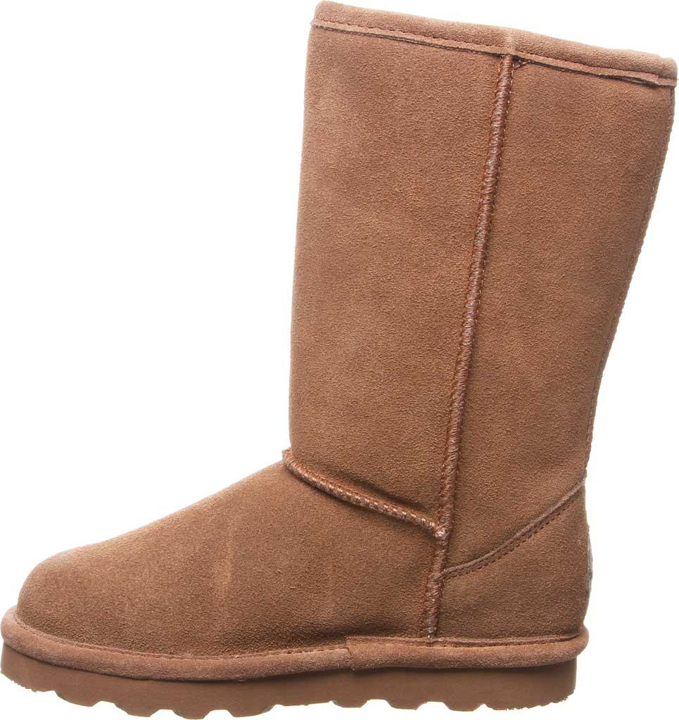 Girls' Bearpaw Elle Tall Youth Boot, Hickory II Suede, large, image 3