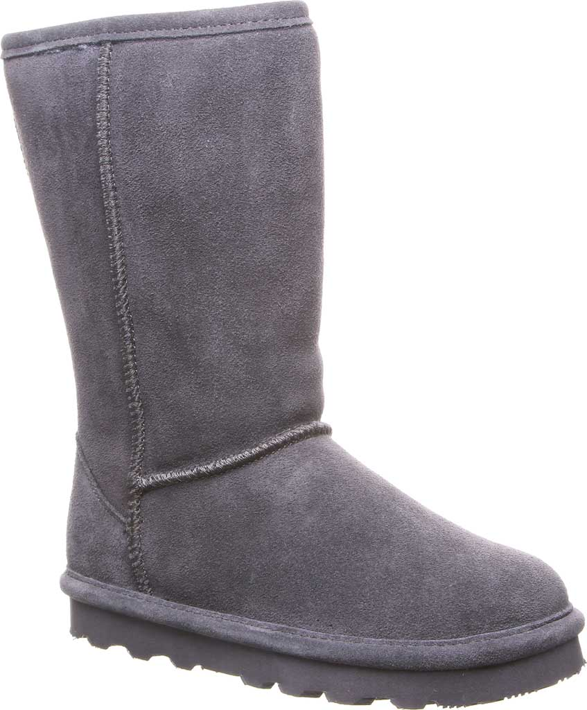 Girls' Bearpaw Elle Tall Youth Boot, Charcoal Suede, large, image 1