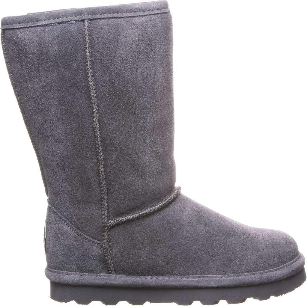 Girls' Bearpaw Elle Tall Youth Boot, Charcoal Suede, large, image 2