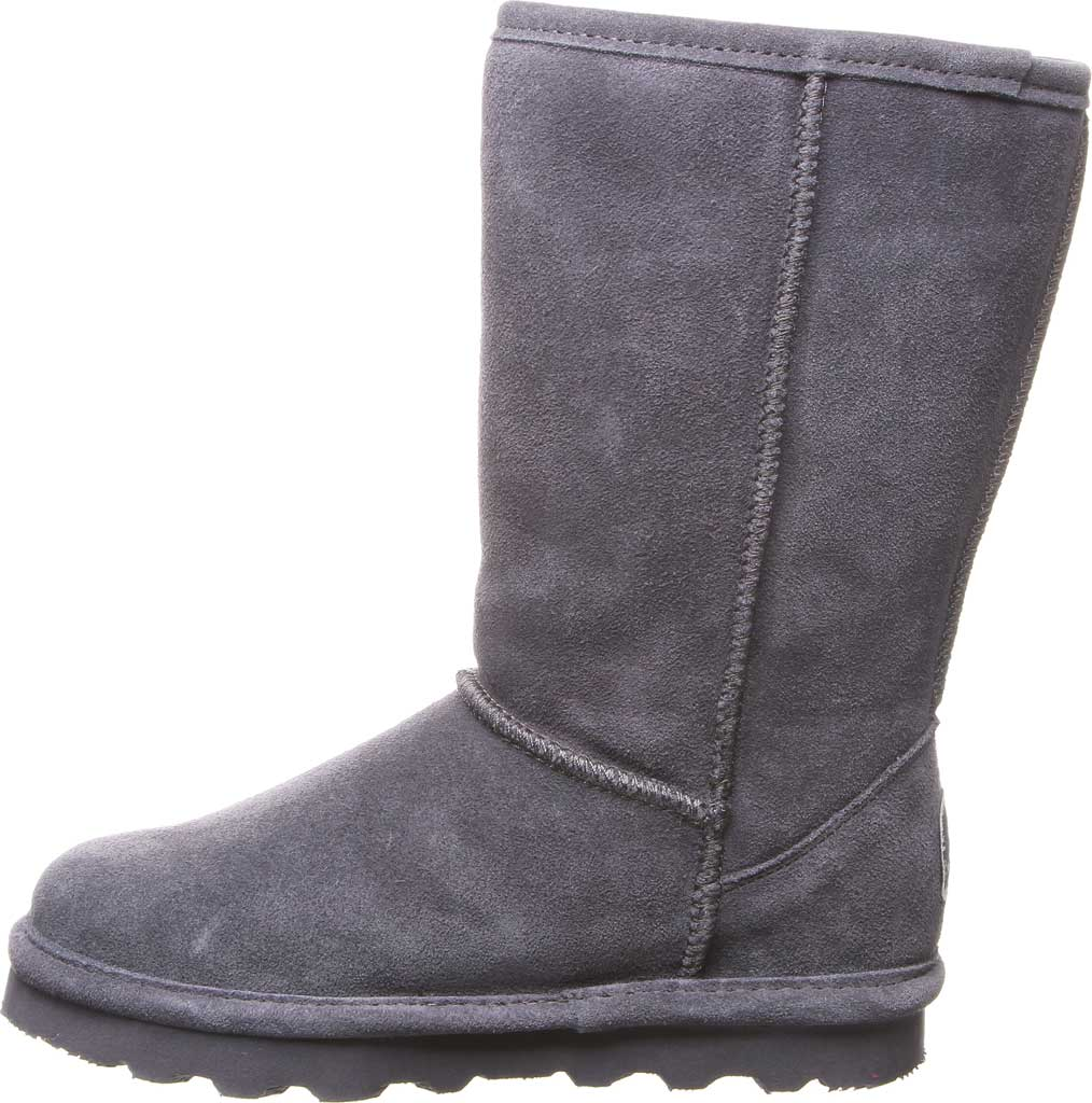 Girls' Bearpaw Elle Tall Youth Boot, Charcoal Suede, large, image 3