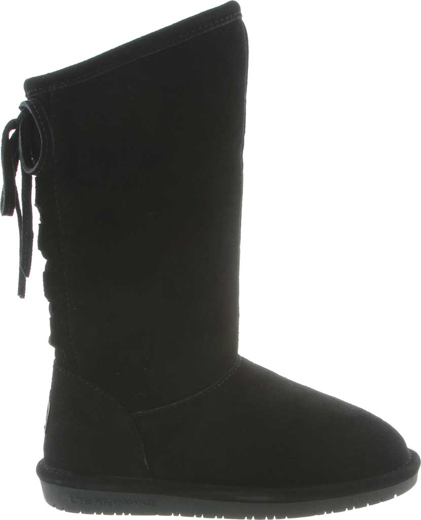 Girls' Bearpaw Phylly Youth Lace Up Boot, Black II Suede, large, image 2