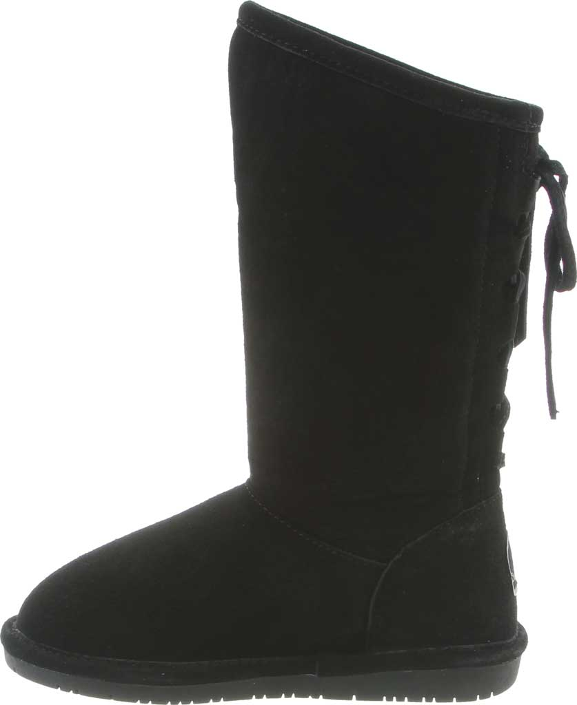 Girls' Bearpaw Phylly Youth Lace Up Boot, Black II Suede, large, image 3