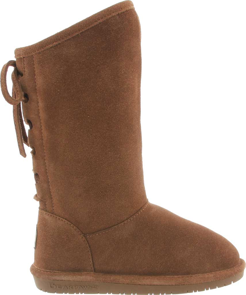 Girls' Bearpaw Phylly Youth Lace Up Boot, Hickory II Suede, large, image 2