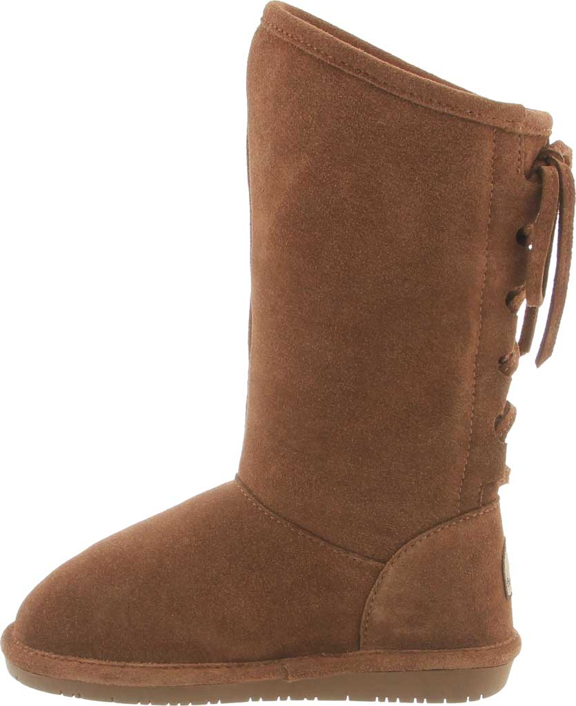 Girls' Bearpaw Phylly Youth Lace Up Boot, Hickory II Suede, large, image 3