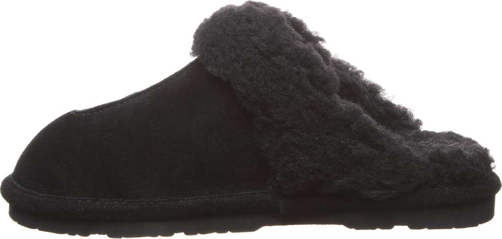 Women's Bearpaw Loketta Scuff Slipper, Black II Suede, large, image 3