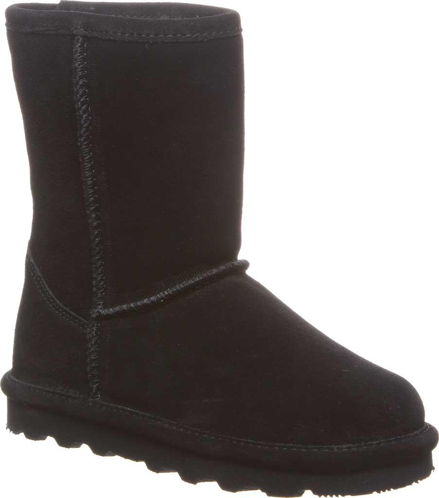 Girls' Bearpaw Elle Youth Boot, Black II Suede, large, image 1
