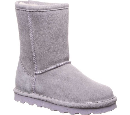 Girls' Bearpaw Elle Youth Boot, Gray Fog Suede, large, image 1