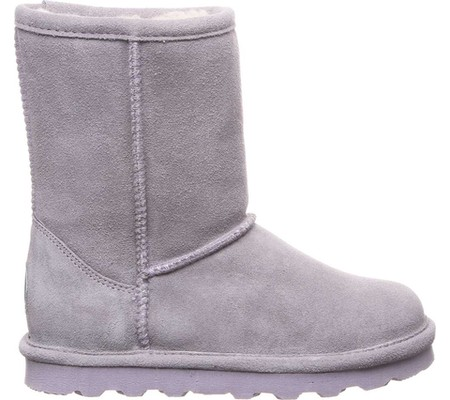Girls' Bearpaw Elle Youth Boot, Gray Fog Suede, large, image 2