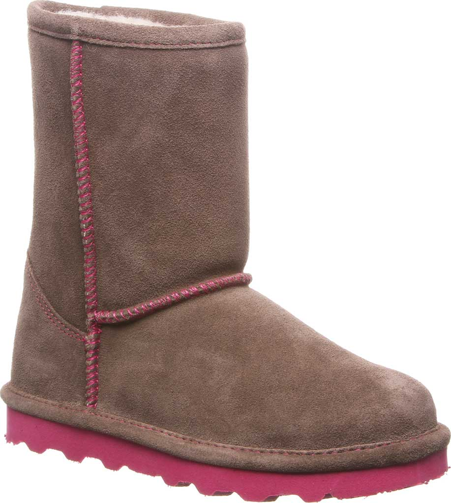 Girls' Bearpaw Elle Youth Boot, Seal Brown Suede, large, image 1