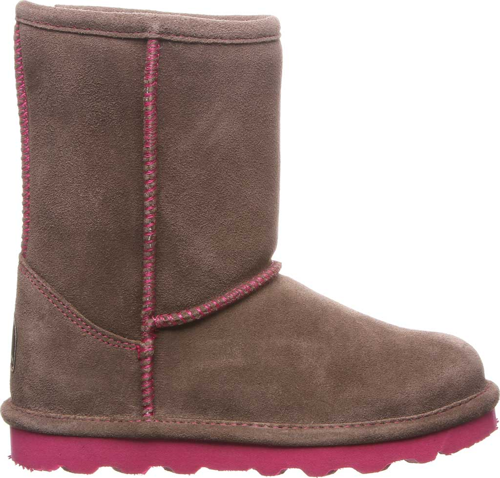 Girls' Bearpaw Elle Youth Boot, Seal Brown Suede, large, image 2