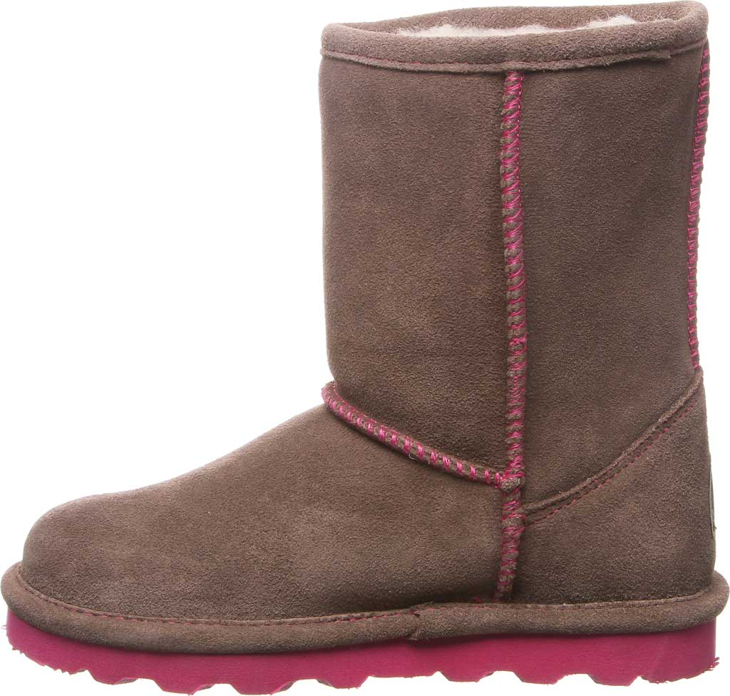 Girls' Bearpaw Elle Youth Boot, Seal Brown Suede, large, image 3