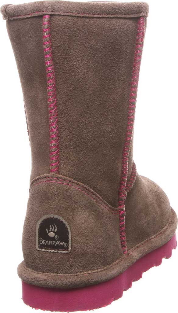 Girls' Bearpaw Elle Youth Boot, Seal Brown Suede, large, image 4