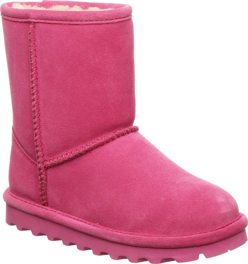 Girls' Bearpaw Elle Youth Boot, Party Pink Suede, large, image 1
