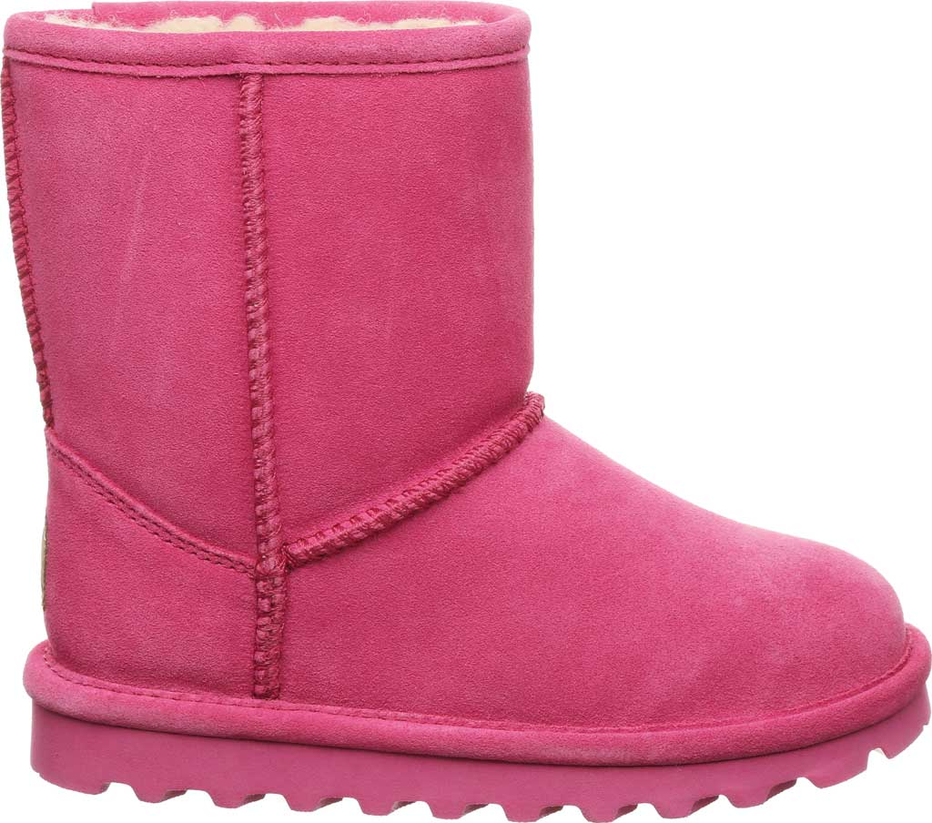 Girls' Bearpaw Elle Youth Boot, Party Pink Suede, large, image 2