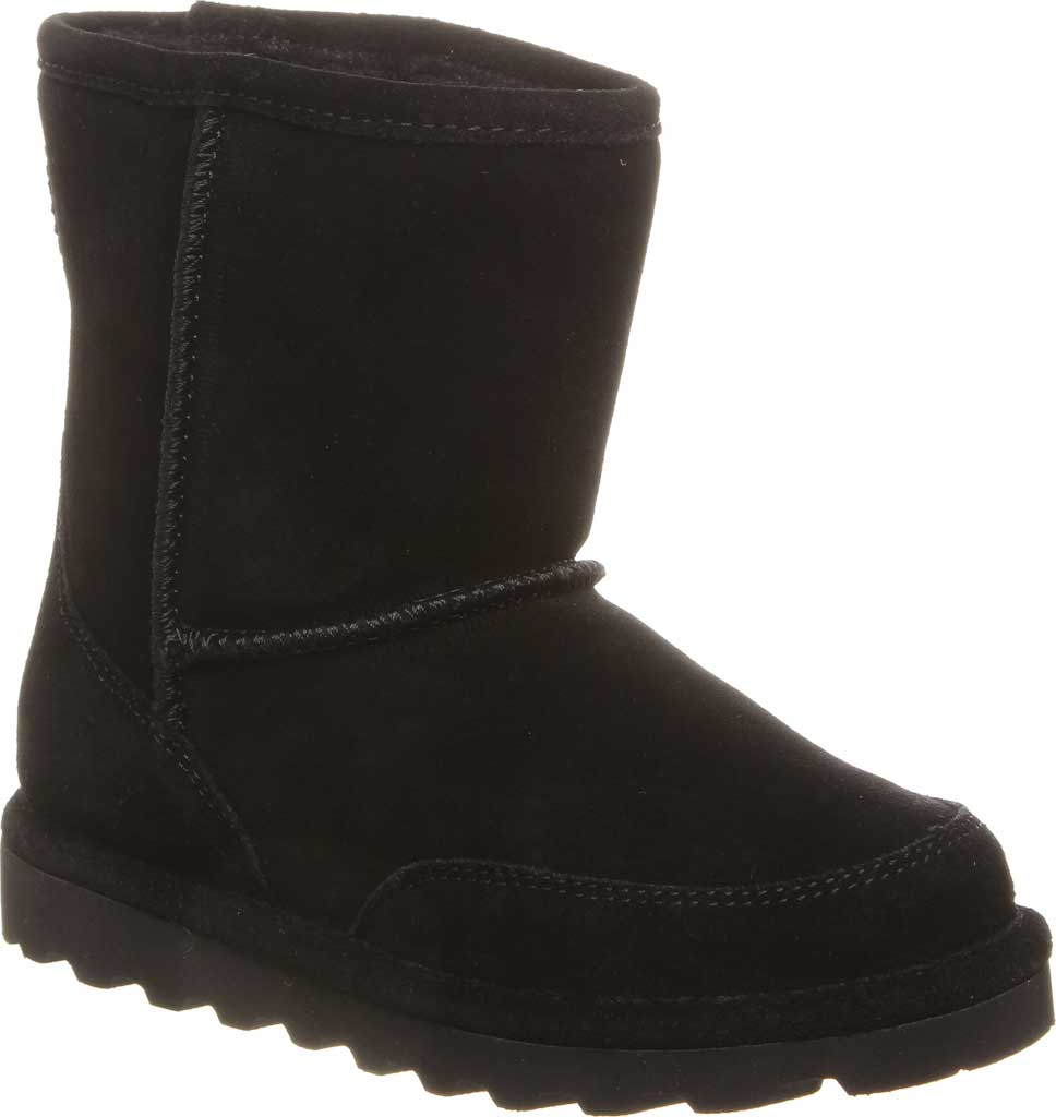 Children's Bearpaw Brady Youth Boot, Black II Suede, large, image 1