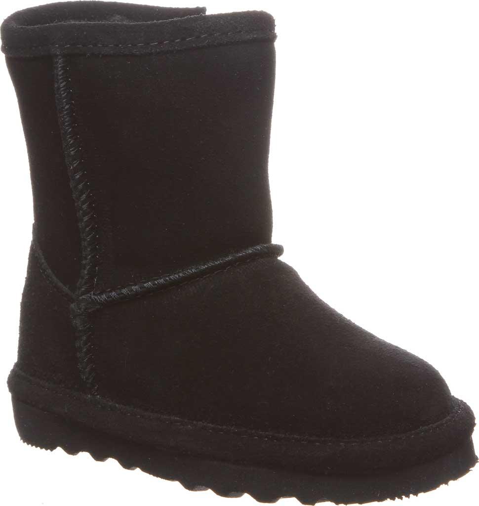 Infant Girls' Bearpaw Elle Toddler Zipper Boot, Black II Suede, large, image 1