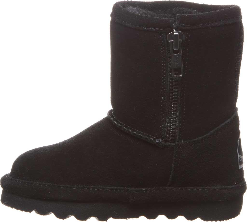 Infant Girls' Bearpaw Elle Toddler Zipper Boot, Black II Suede, large, image 3