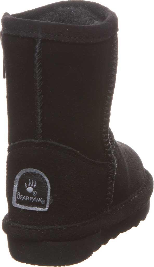 Infant Girls' Bearpaw Elle Toddler Zipper Boot, Black II Suede, large, image 4